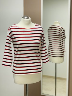 Rich & Royal 3/4 Arm-Shirt rot-weiß Streifenmuster NEU