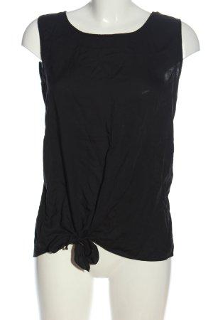 Rich & Royal ärmellose Bluse schwarz Casual-Look
