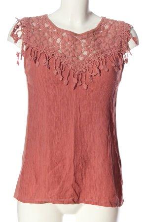 Rich & Royal ärmellose Bluse rot Casual-Look