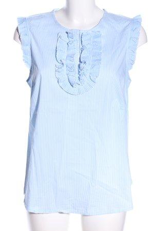 Rich & Royal ärmellose Bluse blau Business-Look