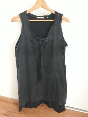 Rich & Royal Vestido estilo camisa azul oscuro
