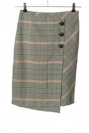 Rich & Royal Asymmetry Skirt check pattern casual look
