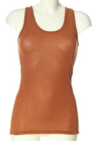 Rich & Royal Basic Top bronzefarben Casual-Look
