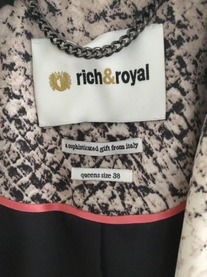 Rich & Royal Tuxedo Blazer black-oatmeal
