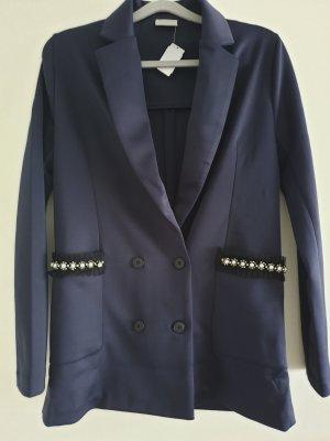 Rich & Royal Blazer Gr  S/36, blau mit Perlenspitze