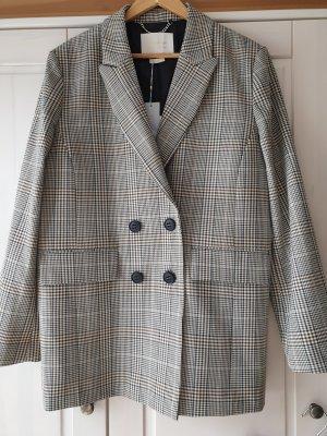 Rich & Royal Klassischer Blazer gris-marrón grisáceo
