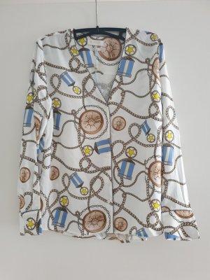 Rich & Royal Bluse Gr.38/M,  langsam,  weiß mit Muster