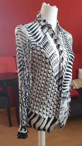 Rich & Royal Long Sleeve Blouse black-white