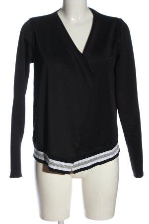 Rich & Royal Giacca a blusa nero-bianco motivo a righe stile casual