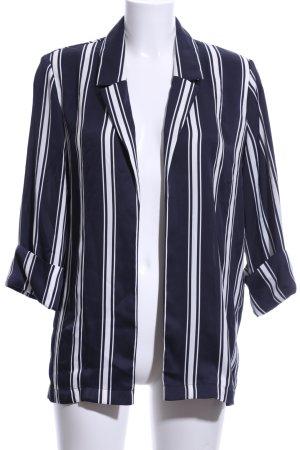 Rich & Royal Blusenjacke dunkelblau-weiß Streifenmuster Elegant
