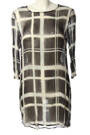 Rich & Royal Abito blusa nero-bianco motivo a quadri stile casual