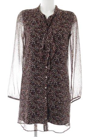 Rich & Royal Blusenkleid Farbtupfermuster Elegant