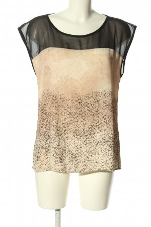 Rich & Royal Blusentop weiß-schwarz abstraktes Muster Casual-Look