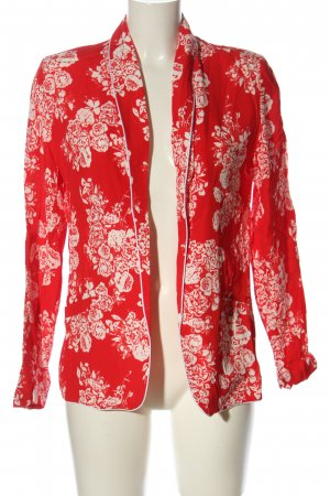 Rich & Royal Cardigan rot-weiß Allover-Druck Business-Look