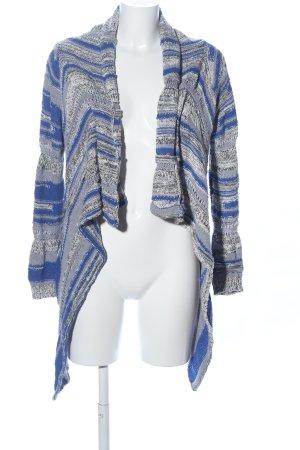 Rich & Royal Cardigan blau-hellgrau Streifenmuster Casual-Look