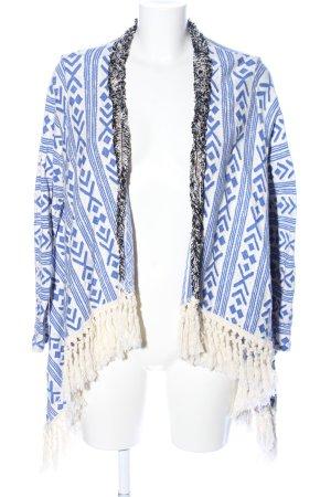 Rich & Royal Cardigan blau-weiß grafisches Muster Street-Fashion-Look