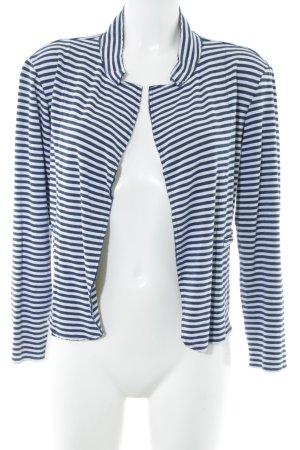 Rich & Royal Cardigan weiß-dunkelblau Streifenmuster Casual-Look