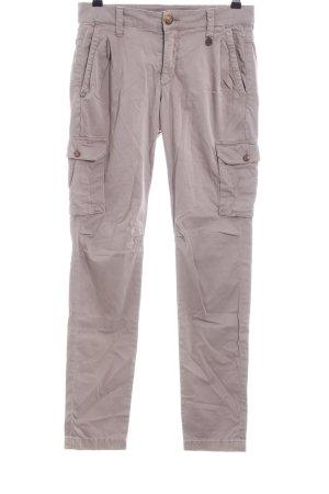 Rich & Royal Pantalone cargo grigio chiaro stile casual