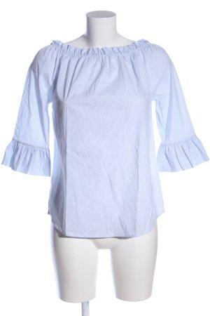 Rich & Royal Carmen-Bluse weiß-blau Streifenmuster Business-Look