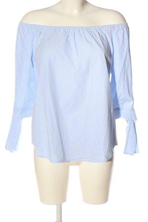 Rich & Royal Bluzka typu carmen niebieski-biały Wzór w paski W stylu casual