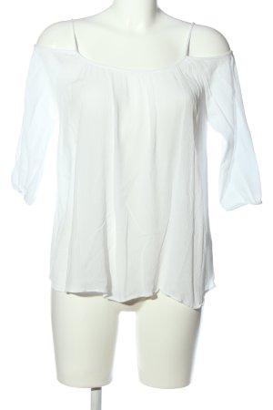 Rich & Royal Blouse Carmen blanc style décontracté