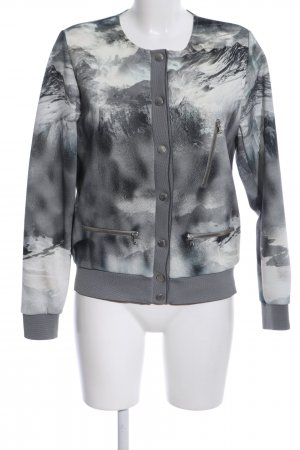 Rich & Royal College Jacket light grey allover print casual look
