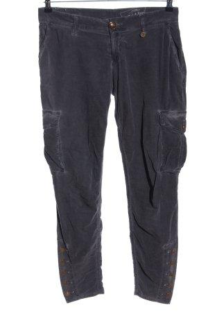 Rich & Royal Pantalon en velours côtelé gris clair style décontracté