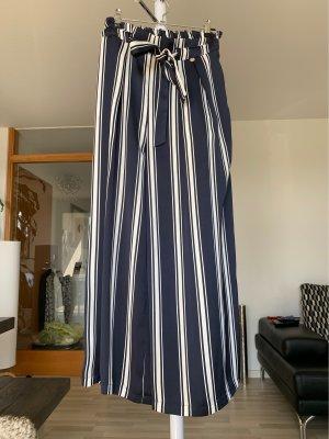 Rich & Royal Pantalone culotte bianco-blu scuro