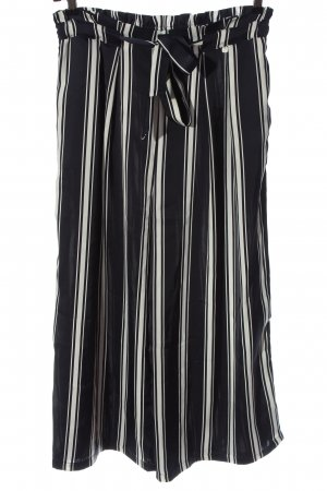 Rich & Royal Culottes blue-white striped pattern casual look