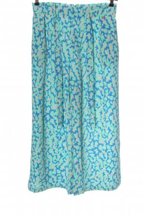 Rich & Royal Culottes turquoise-blue abstract pattern casual look