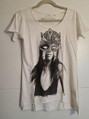 Rich & Royal T-Shirt white-black