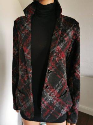 Rich & Royal Blazer en laine noir-rouge carmin