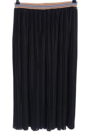 Rich & Royal Falda a cuadros negro look casual
