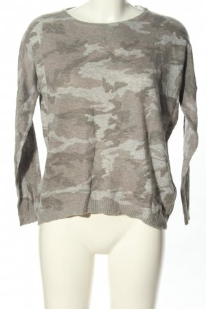 Rich & Royal Fine Knit Jumper light grey camouflage pattern casual look
