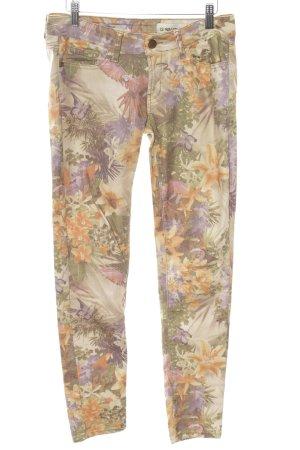 Rich & Royal Five-Pocket-Hose Blumenmuster Casual-Look