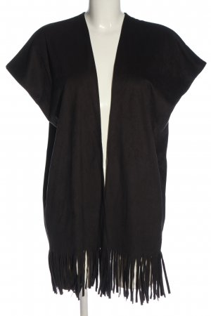 Rich & Royal Fringed Vest black casual look