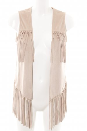 Rich & Royal Fringed Vest natural white business style