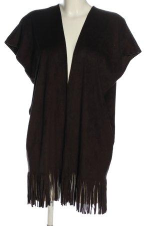 Rich & Royal Veste à franges brun style décontracté