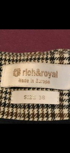 rich & royal Glencheck Hose, Größe 38