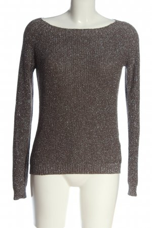 Rich & Royal Coarse Knitted Sweater brown casual look