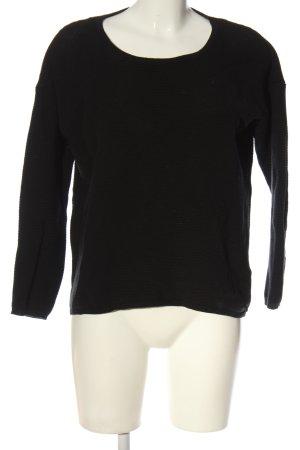 Rich & Royal Sweter z grubej dzianiny czarny W stylu casual