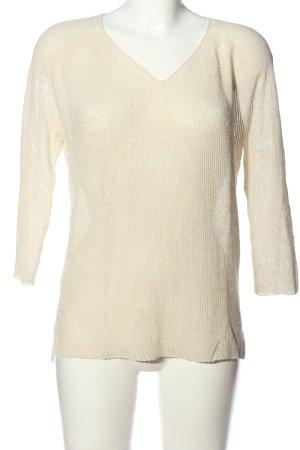 Rich & Royal Szydełkowany sweter kremowy W stylu casual