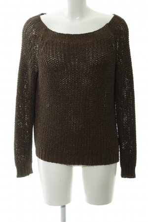 Rich & Royal Crochet Sweater bronze-colored-gold-colored casual look