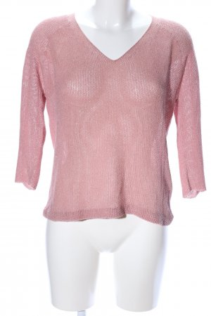 Rich & Royal Häkelshirt pink Casual-Look