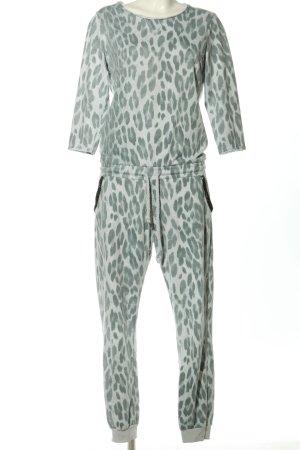 Rich & Royal Tenue pour la maison blanc-vert motif léopard style décontracté