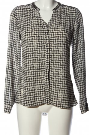 Rich & Royal Hemd-Bluse schwarz-weiß Allover-Druck Casual-Look