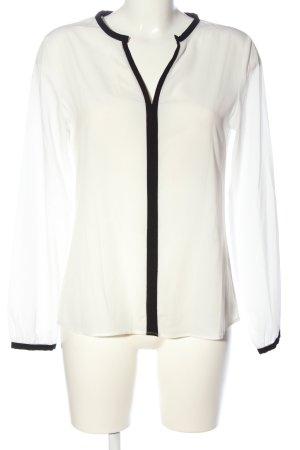 Rich & Royal Hemd-Bluse weiß-schwarz Business-Look