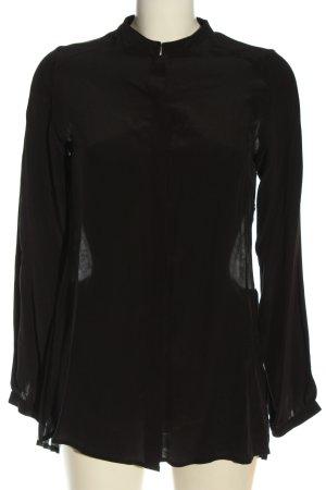 Rich & Royal Hemd-Bluse schwarz extravaganter Stil