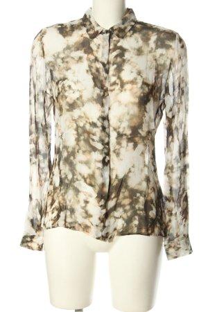 Rich & Royal Shirt Blouse natural white-brown allover print casual look