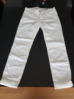 (The Mercer) NY Jeansy o obcisłym kroju w kolorze białej wełny